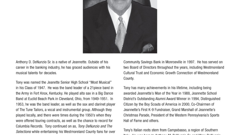 Tony DeNunzio Sr. – Frank A. Santamaria Lifetime Achievement Award – NIASHF